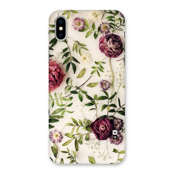 Vintage Rust Floral Back Case for iPhone X