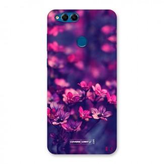 Violet Floral Back Case for Honor 7X