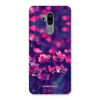 Violet Floral Back Case for LG G7