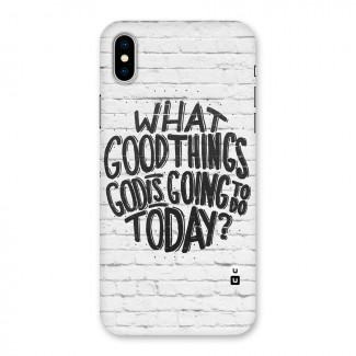 Wall Good Back Case for iPhone X
