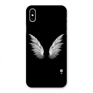 White Wings Back Case for iPhone X