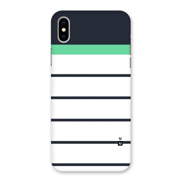 White and Simple Stripes Back Case for iPhone X