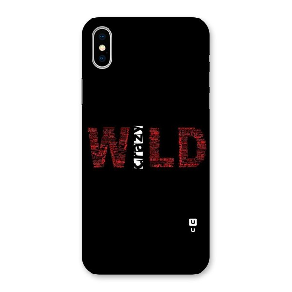 Wild Crazy Back Case for iPhone X