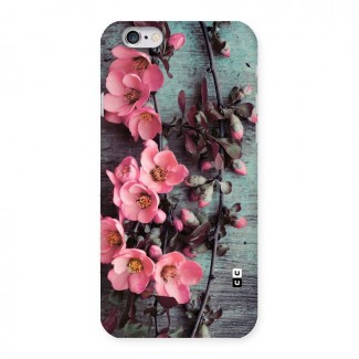 Wooden Floral Pink Back Case for iPhone 6 6S