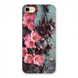 Wooden Floral Pink Back Case for iPhone 7