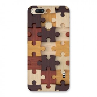 Wooden Puzzle (Printed) Back Case for Mi A1