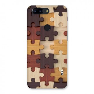 Wooden Puzzle Design Back Case for OnePlus 5T