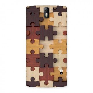 Wooden Puzzle (Printed) Back Case for One Plus One