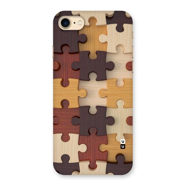 Wooden Puzzle (Printed) Back Case for iPhone 7