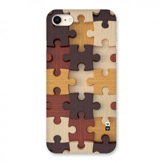 Wooden Puzzle (Printed) Back Case for iPhone 8