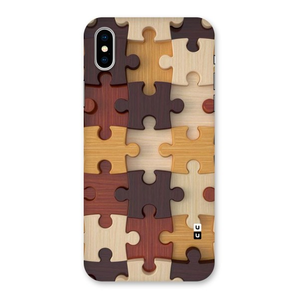 Wooden Puzzle (Printed) Back Case for iPhone X