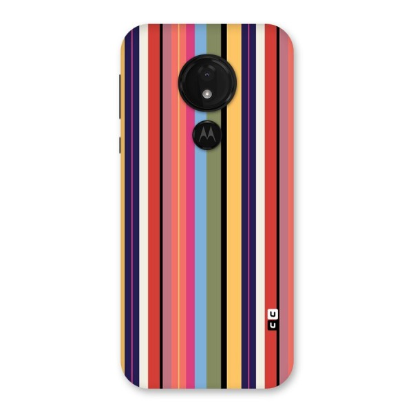 Wrapping Stripes Back Case for Moto G7 Power