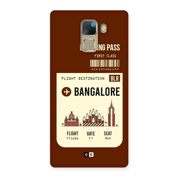Bangalore Boarding Pass Back Case for Huawei Honor 7